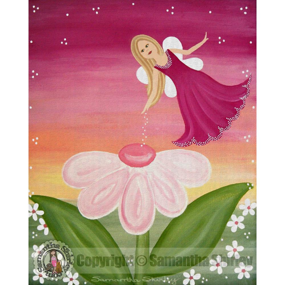 Sparkle Fairy Flower Fairy 2 Childrens Fairytale Kids Art Print