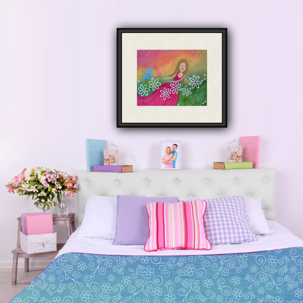 Dance of the Butterfly - Kids Art Print of Daisy Dancer Painting ...