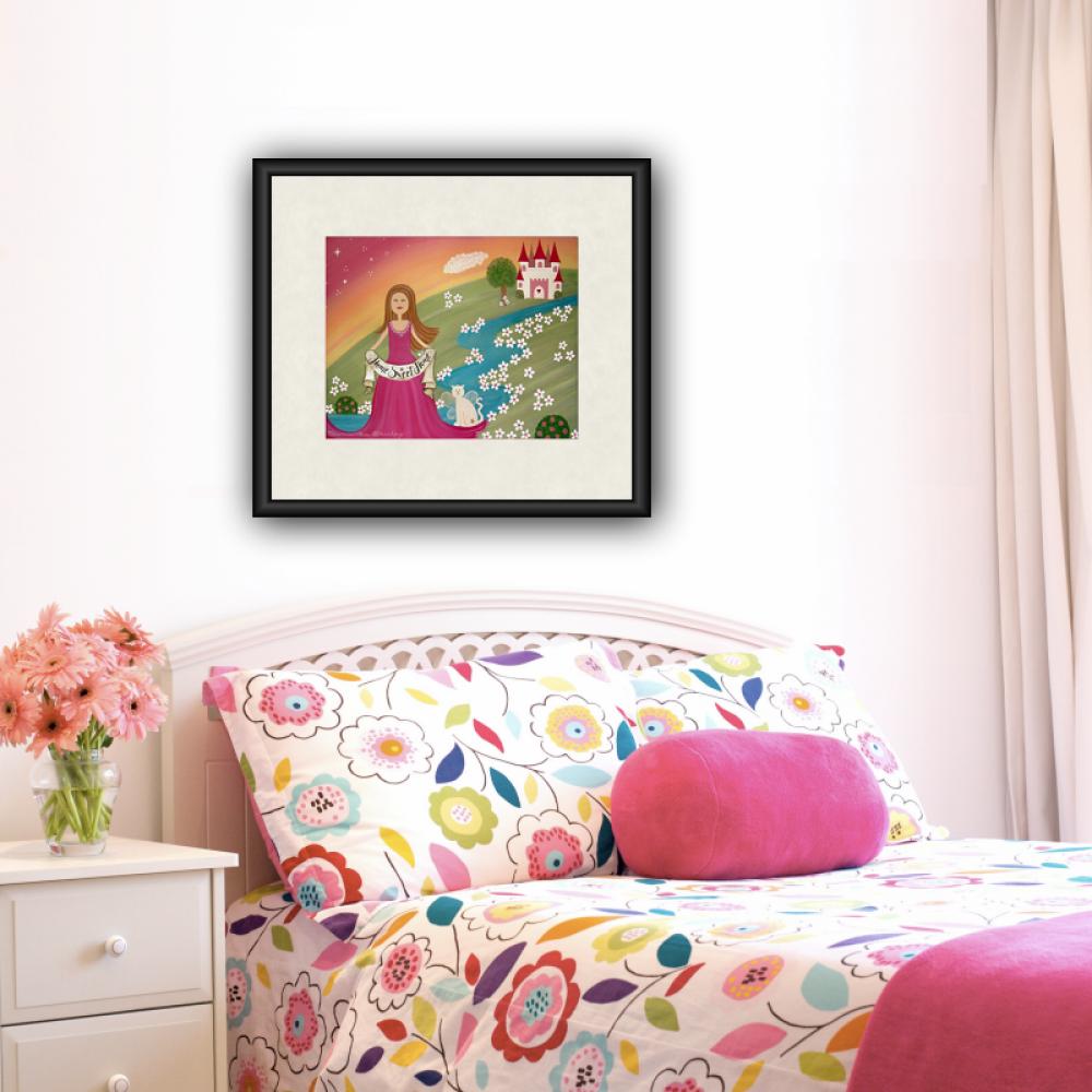 Home Sweet Home - Kids Art Print of Princess Castle Painting - Girls ...