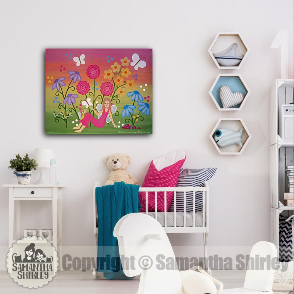 Amazing Fairy Garden Kids Art Canvas Panel Childrens Decor Download Free Architecture Designs Oxytwazosbritishbridgeorg